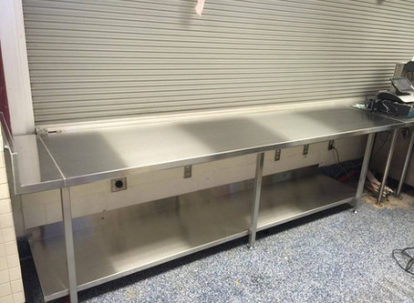 Tony Luke's Stainless Steel Counter top in Citizen's Bank Park