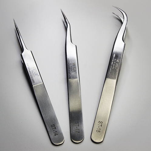 Stainless Steel Slightly Curved Tweezer