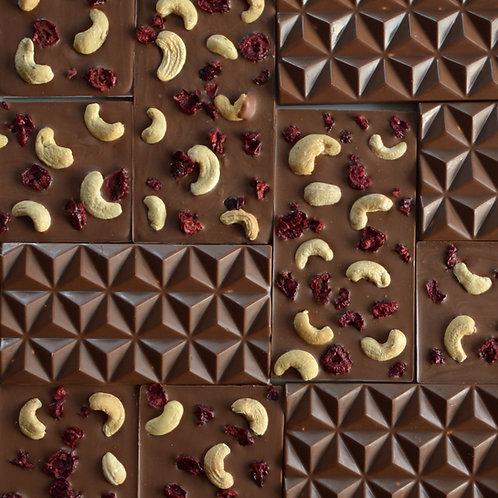 Vegan cashew milk chocolate bars by Anastassia Chocolates. free uk delivery