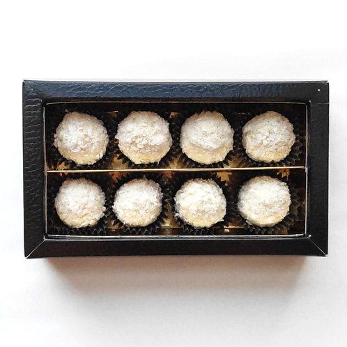 Roasted coconut white chocolates — £12