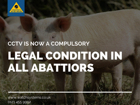 CCTV is now a compulsory legal condition in all abattoirs