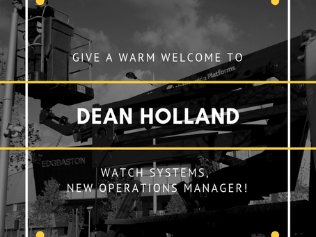 Introducing Dean Holland; Watch Systems, New Operations Manager