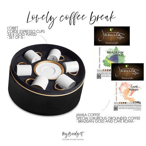 MyBridget Espressotassen vergoldet Luxuriöses Geschenk für Kaffeeliebhaber und Espressetrinker
