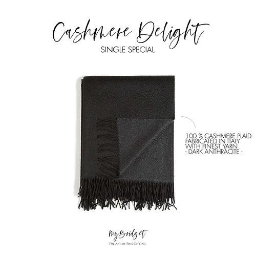 MyBridget Elegante luxuriöse Kaschmirdecke 100 % Cashmere Plaid handgefertigt