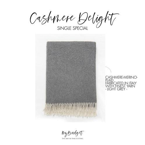 MyBridget Elegante Kaschmirdecke Cashmere Plaid mit Merino als luxuriöses Geschenk