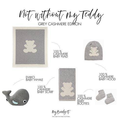 NOT WITHOUT MY TEDDY GREY CASHMERE EDITION