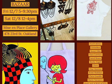 Mark your calendar! I will have art at this Holiday Art Bazaar. Looking forward to seeing you all!