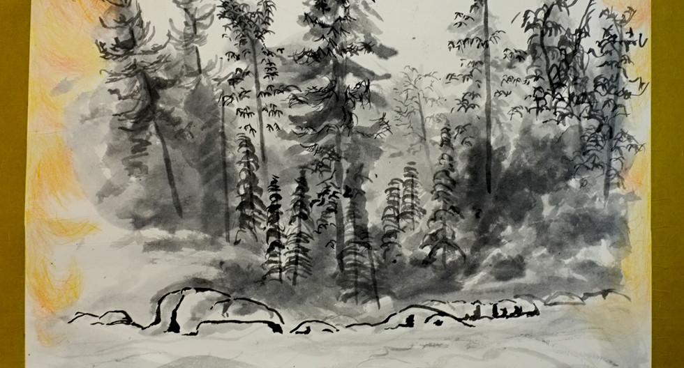 Burning-forest