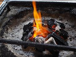 囲炉裏の炎