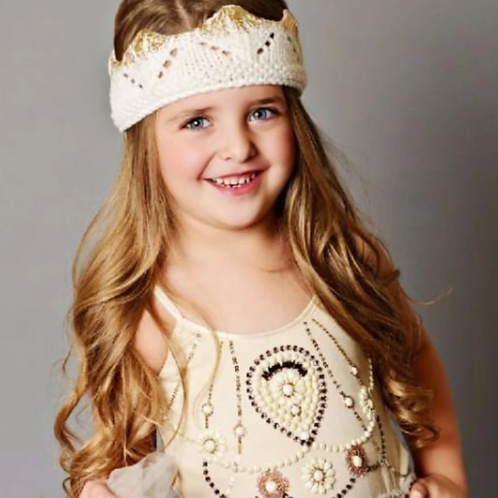 Gold-Foiled Knit Crown