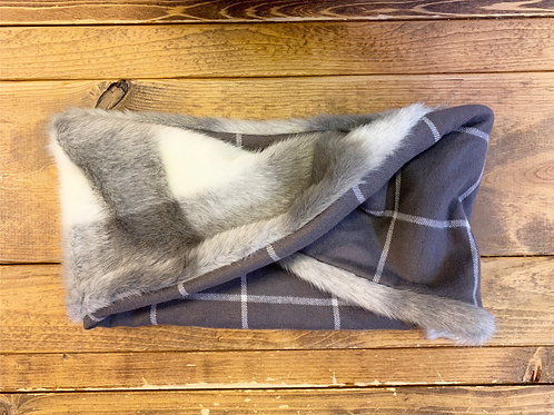 Plaid Fur Cowl