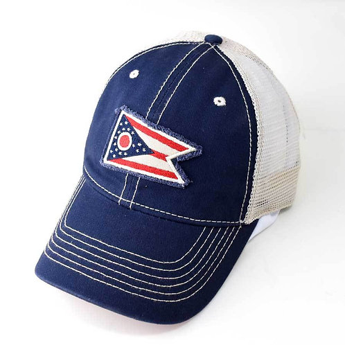 Ohio State Flag Trucker Hat - 2 colors!