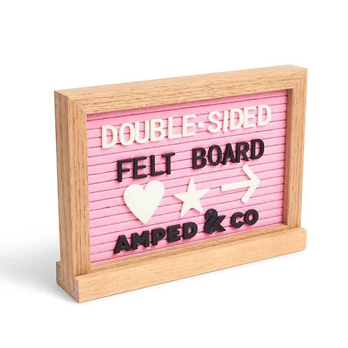 Double-Sided Pink Felt Letter & Dry-Erase Board