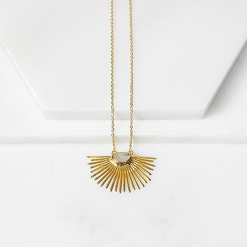 Starburst Short Pendant Necklace