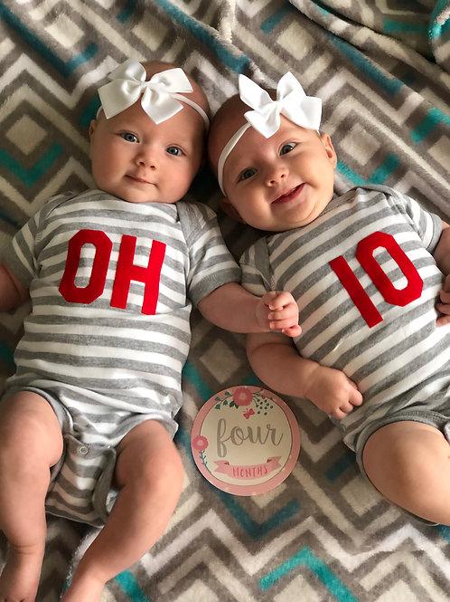 OH-IO Baby Onsies