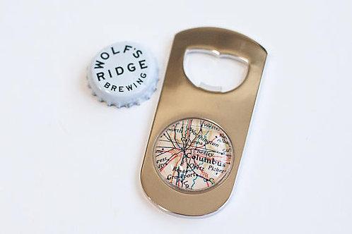 Custom Map Bottle Opener