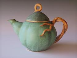vine handled teapot