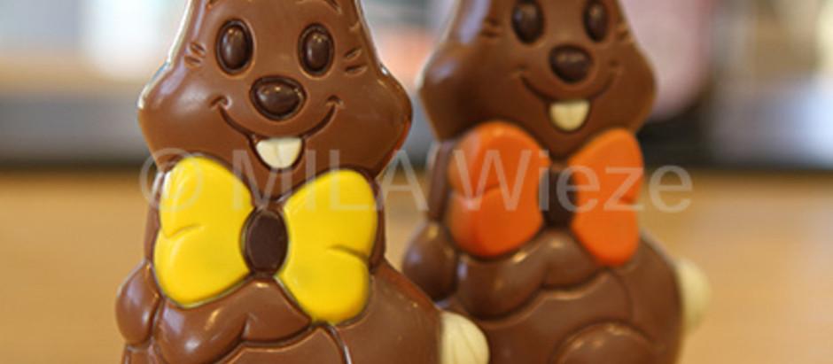 Leuke Paas figuurtjes in oh zo'n lekkere chocolade !