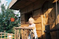 Isla in her tree house