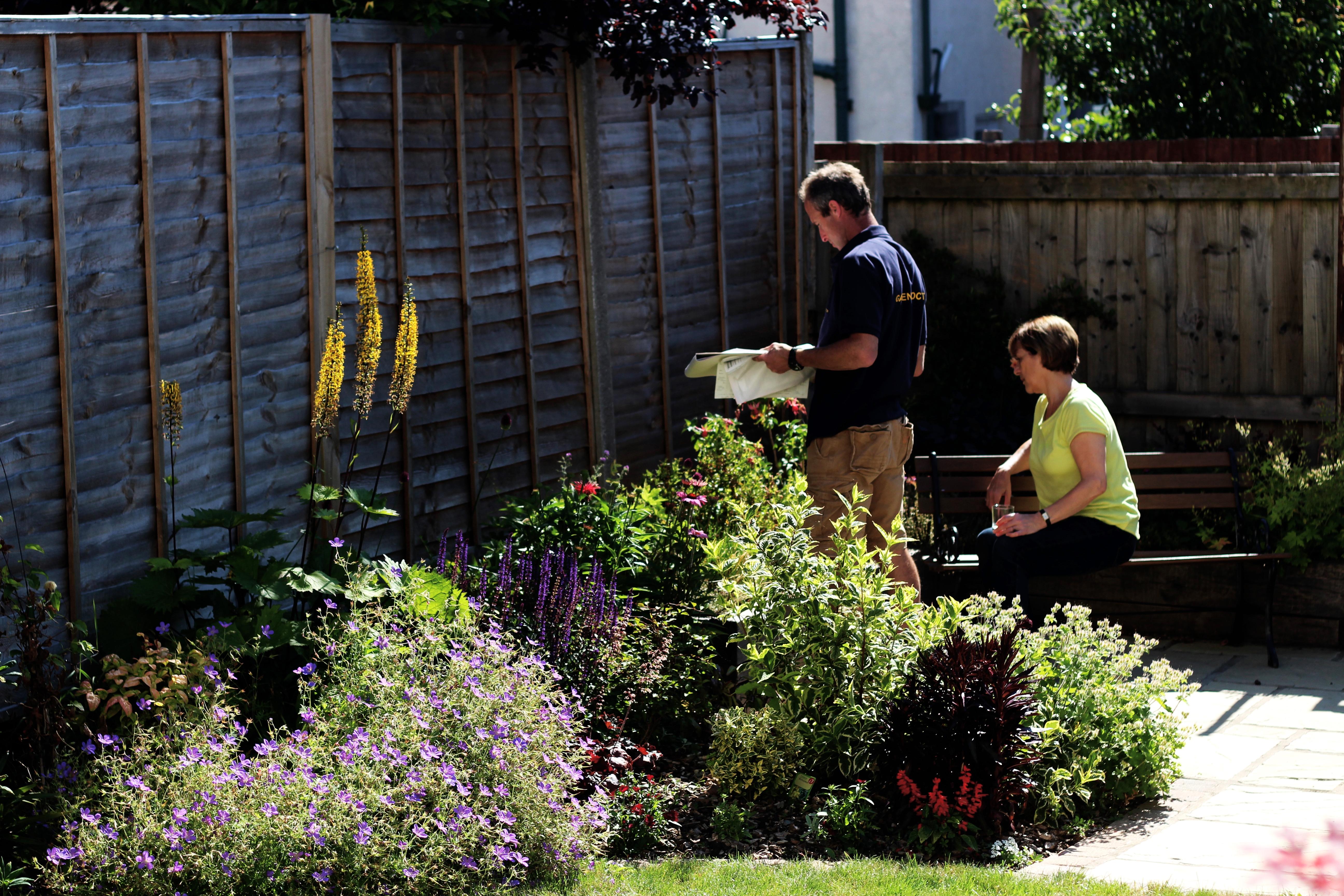 Chris Planning Garden