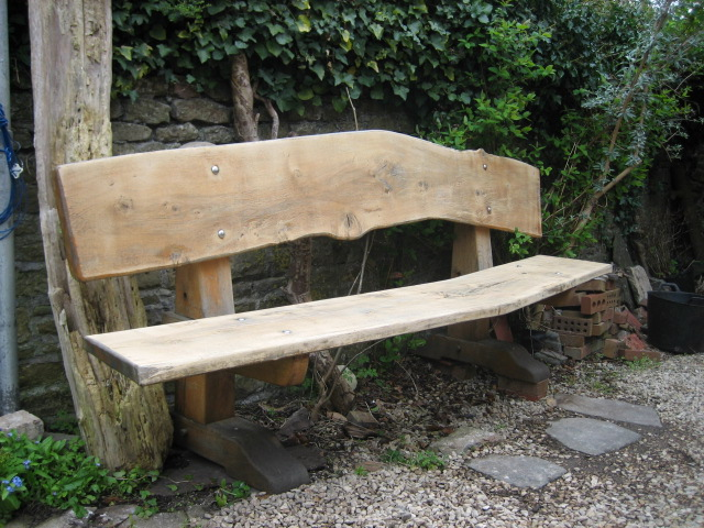 Garden bench from recycled timber
