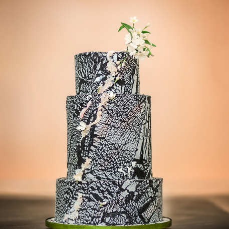 Marble textured cake