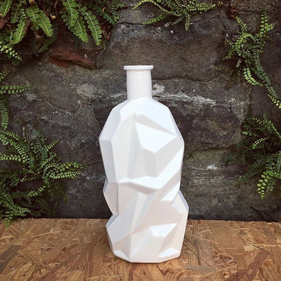 Angular bottle vase
