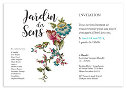Jardin des Sens invitation