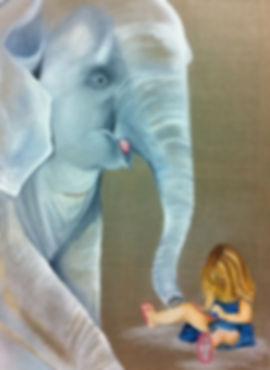Elephant qui veut jouer avec le gameboy