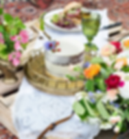 Picnic reception after intimate ceremony