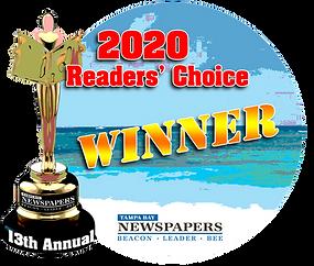 2020 Readers Choice Winner- Tampa Bay Newspapers