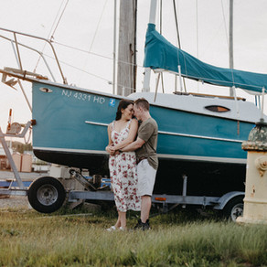 Jamie & Nick / Somers Point Bay / By Allie