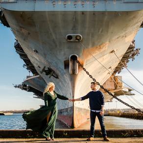 Philadelphia Navy Yard Engagement / Lindsey & Justin / By Jared