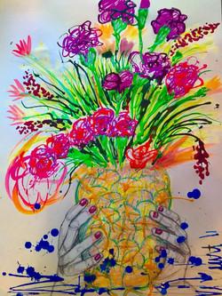 Pineapple Flower Vase