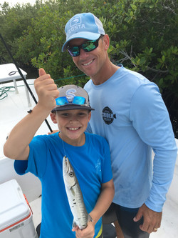 Captain Kyle Crider and young angler