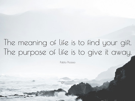 """That elusive little thing called """"purpose."""""""