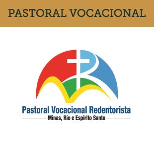 BANNER COM LOGO DA PASTORAL VOCACIONAL REDENTORISTA