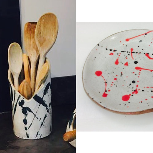 Utensil Jar and Spoon Rest 21/03