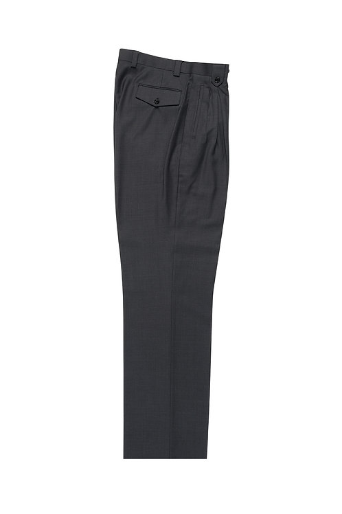 Gray Wide Leg, Pure Wool Dress Pants by Riccardi Clothie RIC1008