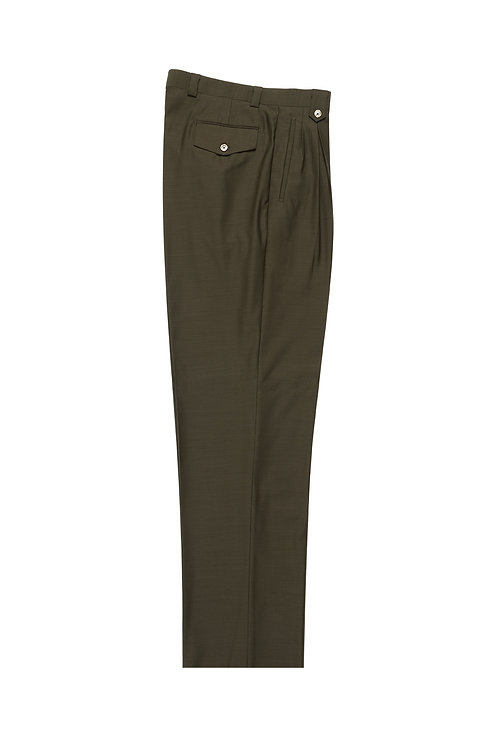 OLIVE Wide Leg, Pure Wool Dress Pants by Riccardi Clothie OLIVE
