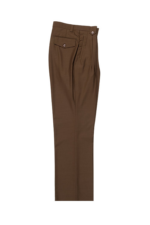 Tobacco Wide Leg, Pure Wool Dress Pants by Riccardi Clothie TOBACCO