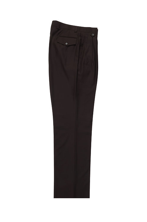 Brown Wide Leg, Pure Wool Dress Pants by Riccardi Clothier RIC1003