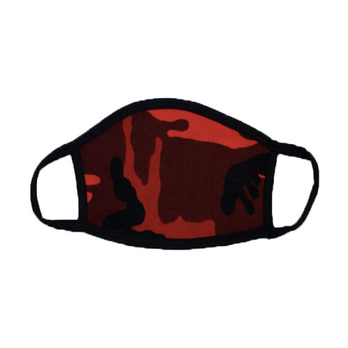 Red Camo Face Masks