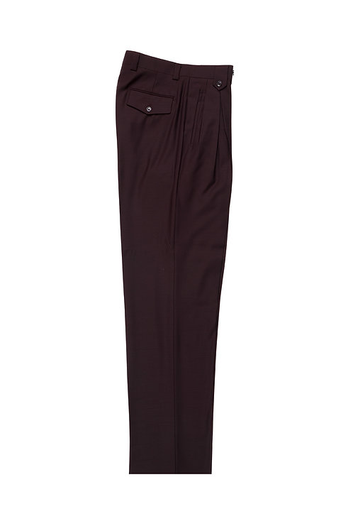 BURGUNDY Wide Leg, Pure Wool Dress Pants by Riccardi Clothie BURGUNDY