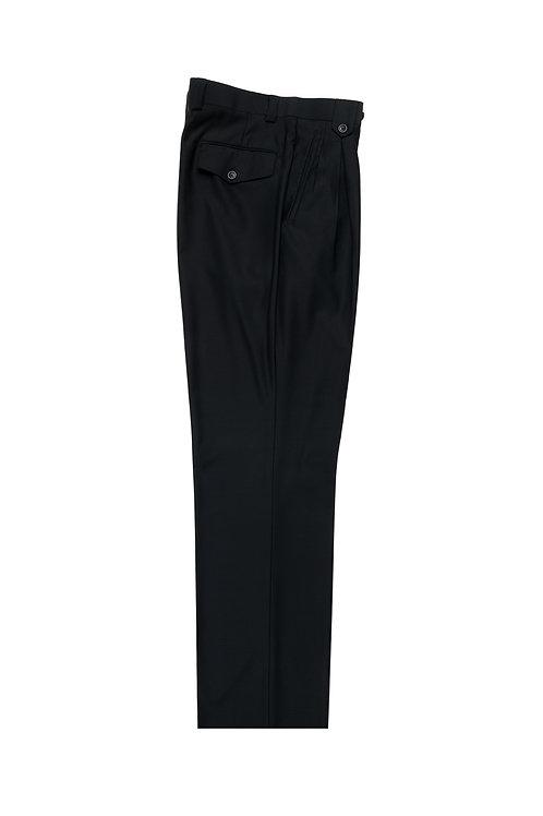 Black Wide Leg, Pure Wool Dress Pants by Riccardi Clothier RIC1001