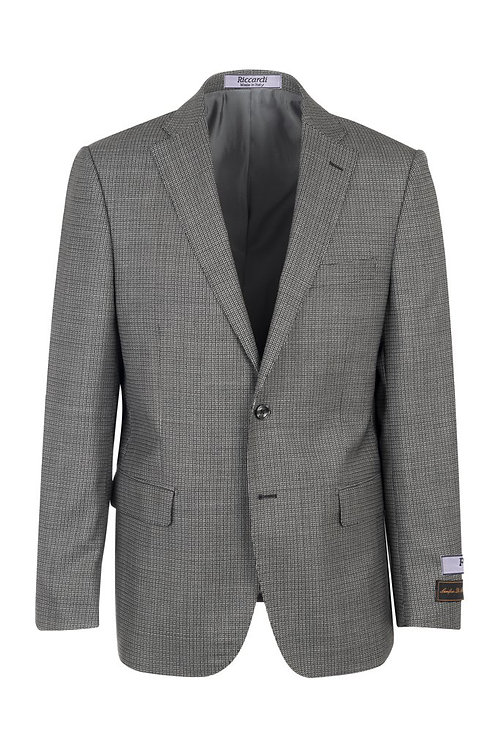 Black and White micro-check, Modern Fit, Pure Wool Jacket LG8422M/333/1