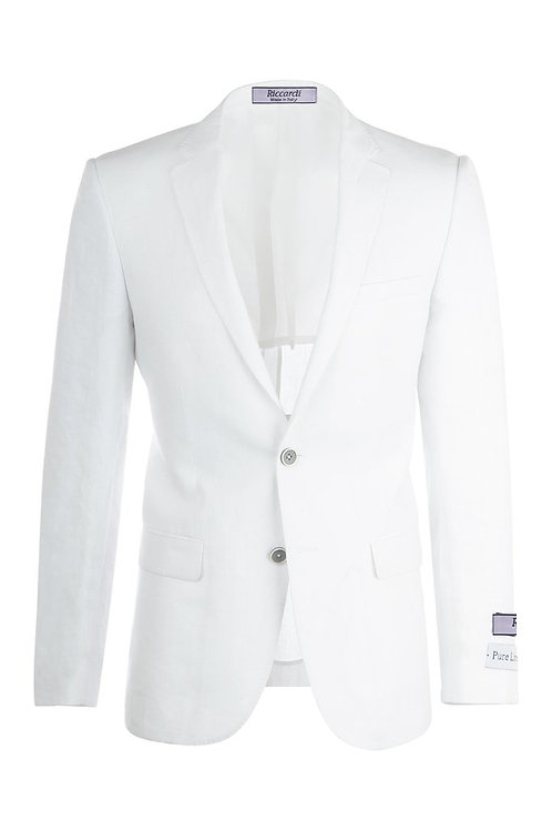White Slim Fit, Linen Jacket RS5620/10