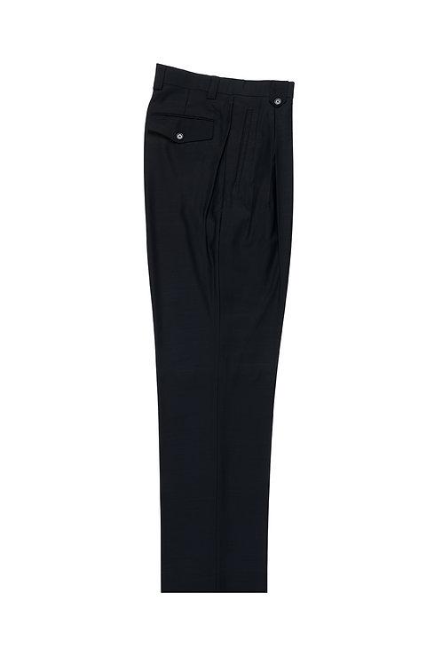 Navy Wide Leg, Pure Wool Dress Pants by Riccardi Clothier RIC1002