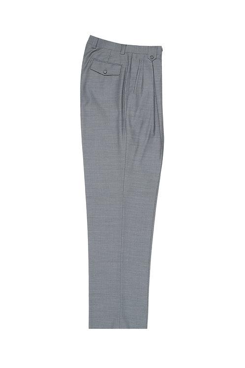 Light Gray Wide Leg, Pure Wool Dress Pants by Riccardi Clothie E09063/26