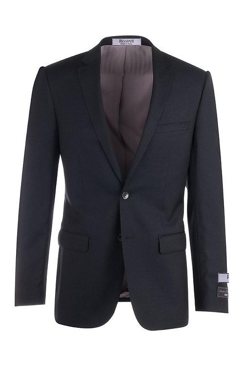 Black Blue Slim Fit, Pure Wool Jacket TS4132/1